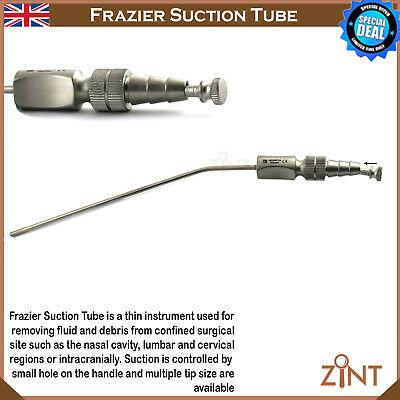 Frazier Suction tube Aspirator Surgical Dental ENT Instruments Neurosurgical CE