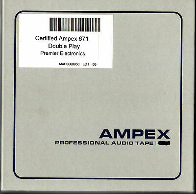 Reel-To-Reel Store: 6 Reels Ampex 671 tape.  DOUBLE-PLAY 2400'  ALL 6 for $45!