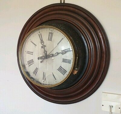Bespoke Antique Round Wall Clock / Handmade Piece With Modern Movement