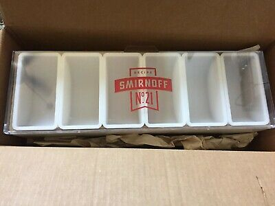 Smirnoff No. 21 Condiment Caddy Tray Holder Container For Bar Man Cave - NIB!