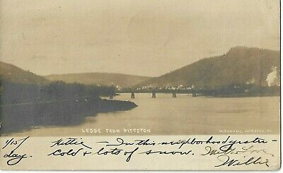 Ledge from Pittston PA vintage RPPC Real Photo W J Harris 1905 Luzerne County