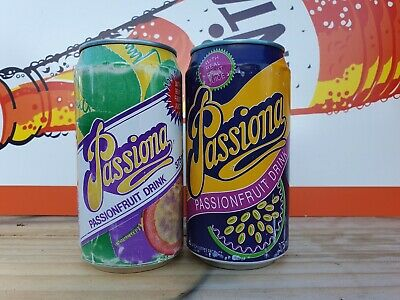2 × PASSIONA Vintage Soft Drink Cans [Cottee's Schweppes]