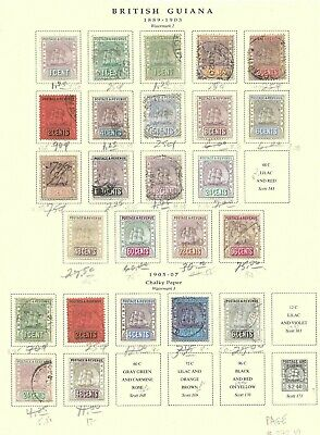 BRITISH GUIANA Mounted Collection as Pictured 2019 Scott CV $703.95