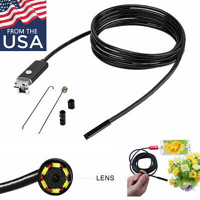 7.0MM Lens 2 in 1 USB Inspection Camera 6 LED Light Waterproof for Android Phone