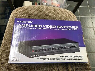 Recoton  Amplified Video Switcher v627 view record organize new in box 1990