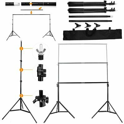 Adjustable Photography Studio Heavy Duty Backdrop Stand Background Support Stand