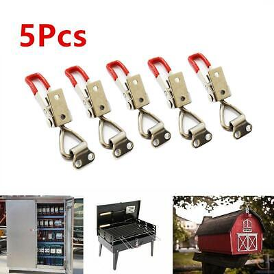 5 Pcs Toggle Latch Adjustable Cabinet Boxes Lever Handle Clamp Hasp Catches Lock