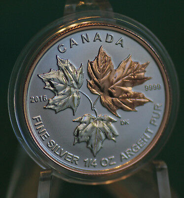 2016 CANADA $3 Silver Maple Leaf 1/4 oz Reverse proof from Fractional set