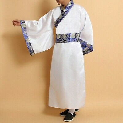 Details about  /Mens Chinese Ancient Hanfu Asian Traditional Clothing Dress Robe Gown Tang Retro