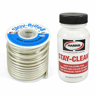 Harris Solder Kit SB861 & SCPF4 - Stay-Brite 8 Silver Bearing Solder With Flux