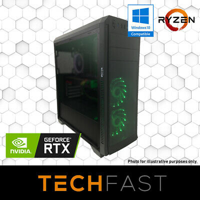 Ryzen 7 2700 RTX 2080 8GB 120GB SSD 8GB DDR4 A320 Gaming PC Desktop Computer