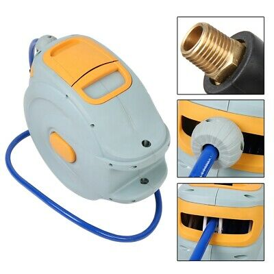 """Retractable Air Compressor Hose Reel 3/8"""" 300 PSI with 1/4NPT-18 Interface"""