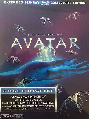 AVATAR - 3 x Disc BLURAY Steelbook Set 2009 Region B C