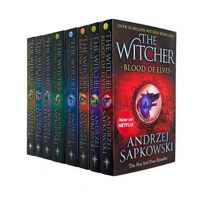 Witcher Series Andrzej Sapkowski 8 Books Collection Set The Last Wish - Netflix