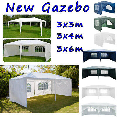 Gazebo Waterproof Garden Outdoor Marquee Wedding Party PE 120g Tent 3x3/3x4/3x6m