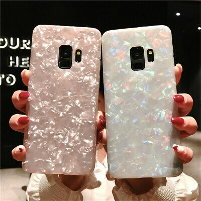 For Samsung Galaxy S10+ S10e S9 S8 S7 Edge Shockproof Marble Silicone Case Cover
