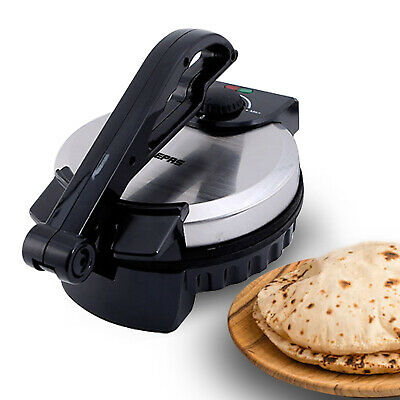 Geepas Electric Chapati Maker Flat Bread Naan Tortilla Fulka Roti Press Machine