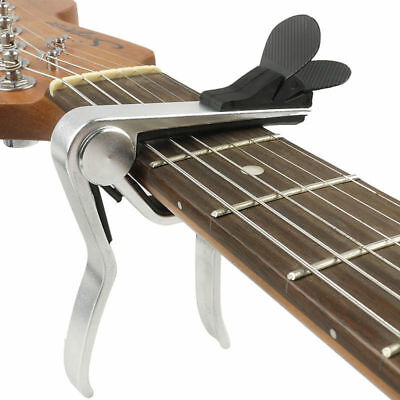 Guitar Capo Clamp & Pick Holder Acoustic Electric Quick Release Trigger