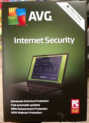 AVG Internet Security 2020 - 3 PCs / 1 Years Brand New, Free Shipping
