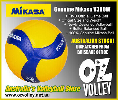 Genuine Mikasa V300W Pro Indoor Volleyball - FIVB Official Game Ball - OzVolley