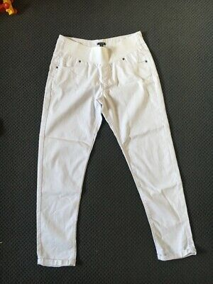 White maternity jeans with ladies size 10-12 pre pregnancy