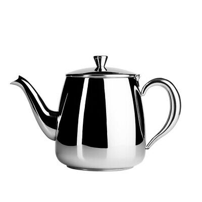Cafe Ole Stainless Steel Teapot 70oz Traditional Tea Pot Cafe Home Flip Up Lid