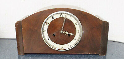 Old Foreign Pendulum Fireplace/Table Clock in Wooden - Restoration Object
