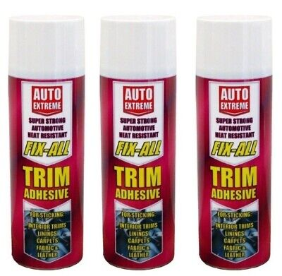 500ml Auto Extreme Super Strong Heat Resistant fix-all trim adhesive Glue Spray
