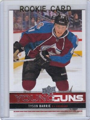 Tyson Barrie 2012-13 12-13 Upper Deck 1 Young Guns Rc #212 Toronto Maple Leafs