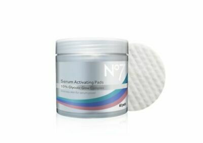 *NEW* No7 Serum Activating Pads 10% Glycolic Glow Complex 60 Pads Boxed