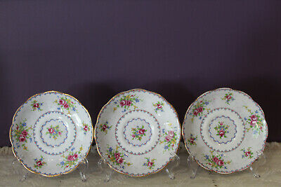 Set Of 3 Royal Albert Petit Point Saucer Only Made In England