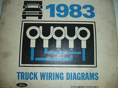 1983 ford econoline van truck electrical oem wiring diagrams schematic  manual