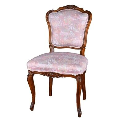 Two (2) French Louis XV style Carved and Upholstered Side Chairs