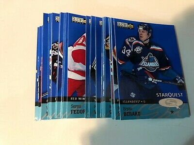 1997-98 COLLECTOR'S CHOICE STAR QUEST S1 COMPLETE 45 CARD INSERT SET LOT Potvin