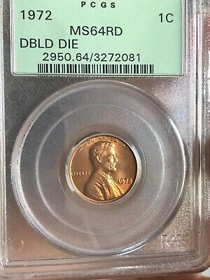 1972 Double Die Lincoln Penny In MS64RD By PCGS.