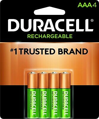 Duracell Rechargeable Long Life AAA4 Batteries - Sealed Pack 850/mAh - NEW
