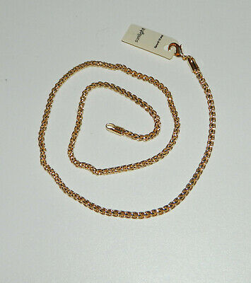 Collier Chaine Maille  0,3Cm Longueur 50Cm Plaque Or Neuf N°2744