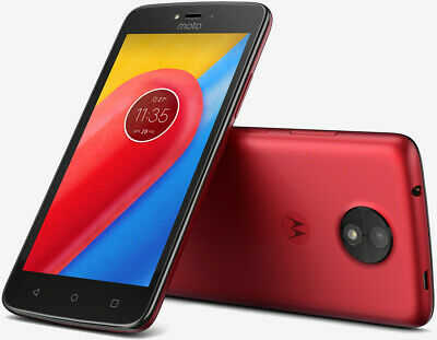 O2 - Moto C - 5 Inch 16GB 5MP 4G Android Mobile Phone - XT1754 - Red