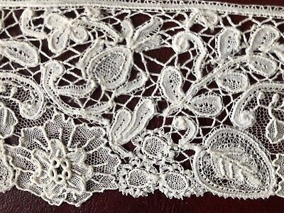 Vintage Brussels mixed Duchesse bobbin Point de Gaze lace edging COLLECTOR CRAFT