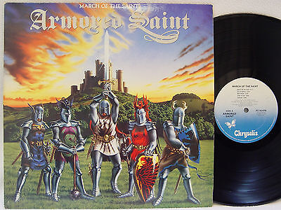 ARMORED SAINT - March of the Saint LP (1st US Pressing on CHRYSALIS, Debut)