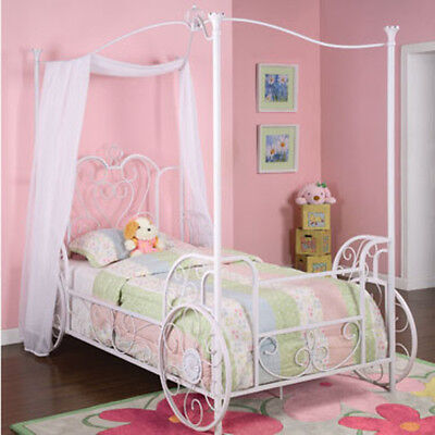 Powell Princess Emily Carriage Canopy Twin Size Bed (includes Bed Frame) 374-042