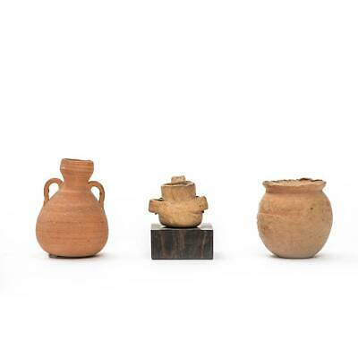 Ancient Middle East Minature Pottery, set of 3