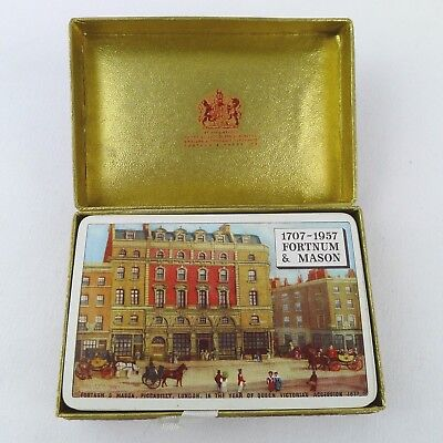 Vintage Fortnum & Mason Playing Cards London Department Store 1707 - 1957 Rare
