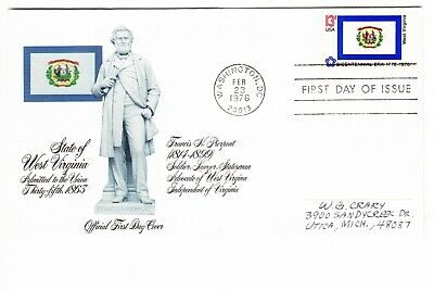 1976 USA State of West Virginia 13c First Day Cover