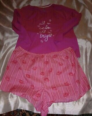 Sonoma  Sleep And  lounge wear top and unbranded cotton shorts size 2X pink