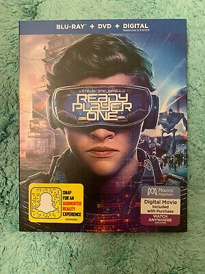 Ready Player One (Blu-Ray + DVD + Digital ) * w/SLIPCOVER * New Factory Sealed