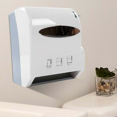 Commercial Paper Tissue Towel Roll Feed Dispenser Holder Wall Mounted Workshop