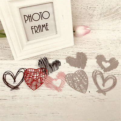 4Pcs Love Stripe Design Metal Cutting Dies DIY Scrapbooking Album Paper.Card.
