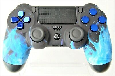 Sony Playstation 4 / PS4 Controller (V2) Blaue Flammen - Customize Controller