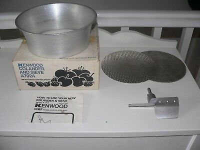 KENWOOD CHEF - Colander & Sieve - A792A (Fits A701a,A901 & all KM models) Ex con